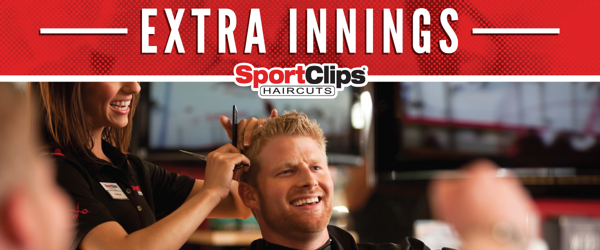 The Sport Clips Haircuts of Farmers Branch Extra Innings Offerings